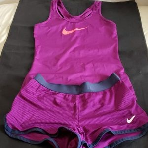 Nike shorts Nike top. Shorts new without Tags